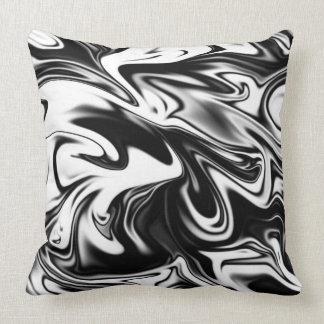 Black And White Marble, Big Throw Cushion. Cushion