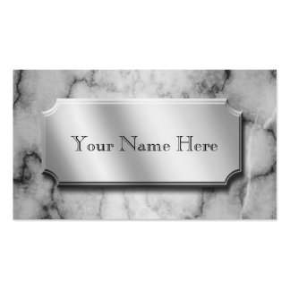 Black and White Marble Double-Sided Standard Business Cards (Pack Of 100)