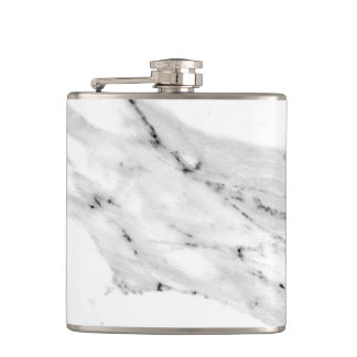 Black and White Marble Hip Flask