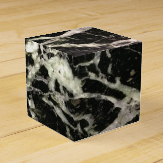 Black and White Marble Stone Party Favour Box