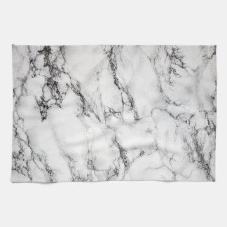 black and white marble stone tea towel