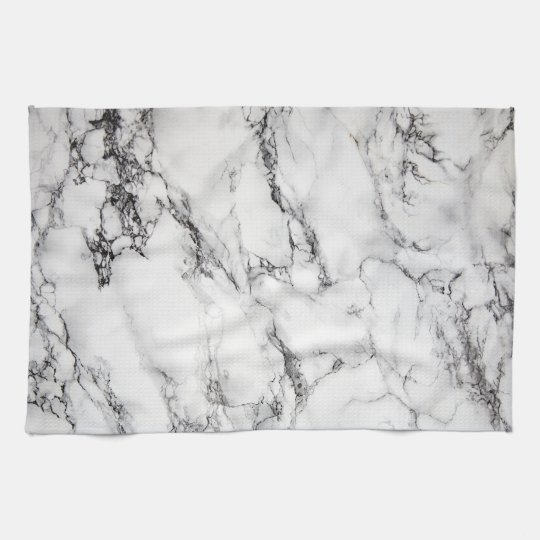 black and white marble stone tea towel
