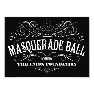 Black and White Masquerade Ball Invitations