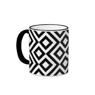 Black and White Meander Coffee Mugs