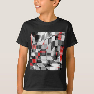 black and white meets red Version 1 Tee Shirts