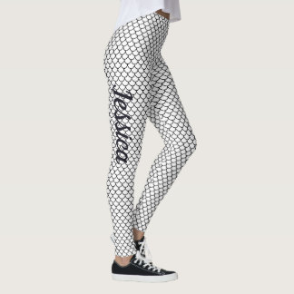 Black and White Mermaid Tail Leggings