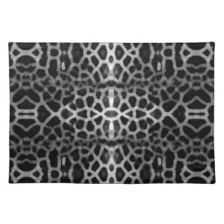 Black and white mesh pattern place mats