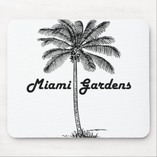 Black and White Miami Gardens & Palm design Mouse Pad