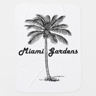Black and White Miami Gardens & Palm design Pramblanket