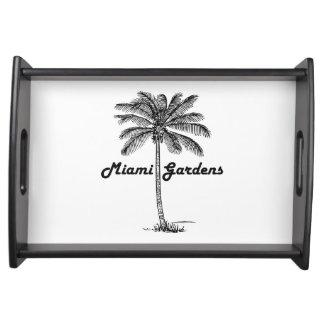 Black and White Miami Gardens & Palm design Serving Tray