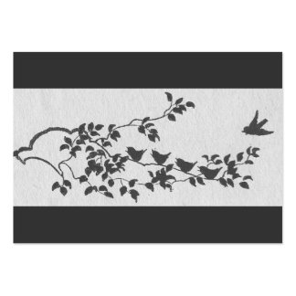 Black and White Minimalist Birds Hotel Enclosure Pack Of Chubby Business Cards