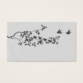 Black and White Minimalist Birds Place Cards