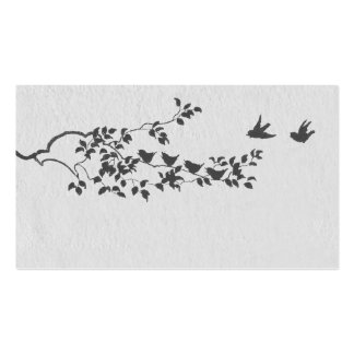 Black and White Minimalist Birds Place Cards Business Card Template