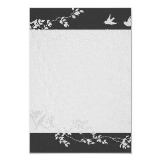 Black and White Minimalist Birds Thank You 9 Cm X 13 Cm Invitation Card