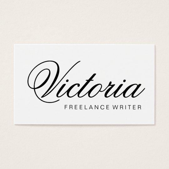 Black and white minimalist elegant business card