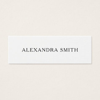 Black and white minimalist modern business card