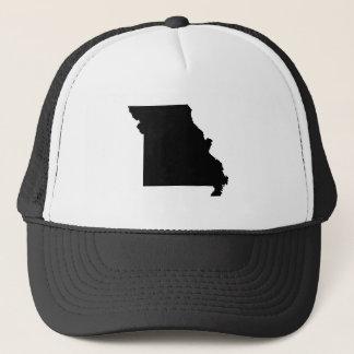 Black and White Missouri Trucker Hat