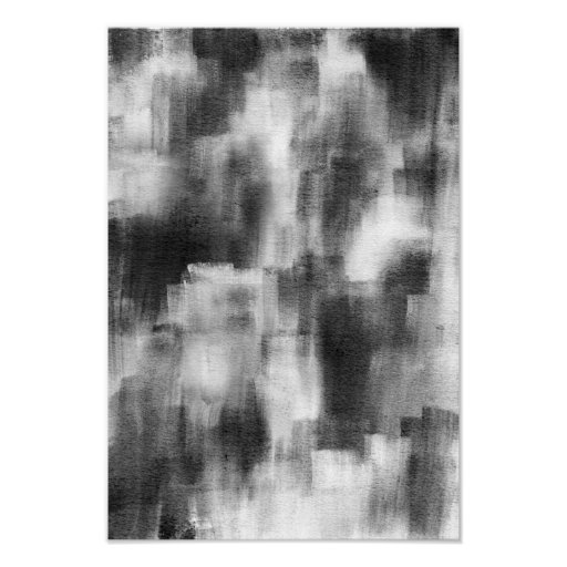 Black and White Modern Abstract Poster