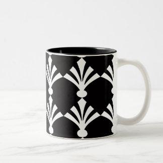 Black And White Modern Art Deco  Mug Two-Tone Mug