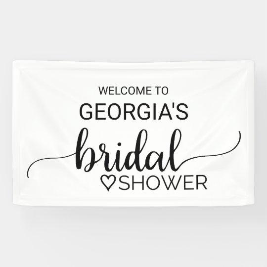 Black and White Modern Calligraphy Bridal Shower