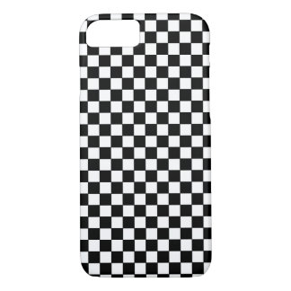 black and white modern chess-pattern iPhone 7 case