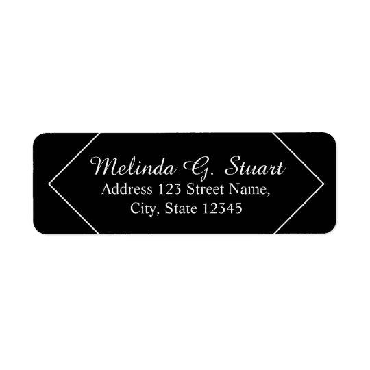 Black and White Modern Elegant Return Address Label
