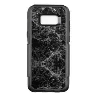 Black and White Modern Faux Marble Pattern OtterBox Commuter Samsung Galaxy S8+ Case