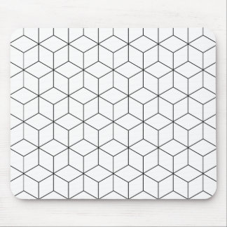 Black And White Modern Geometric Mouse Mat