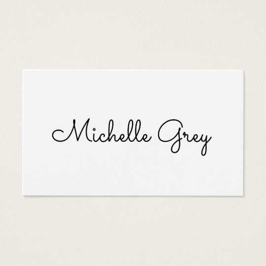 Black and white modern minimalist business card