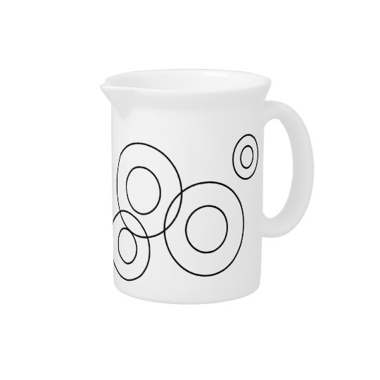 Black and White Modern Pitcher
