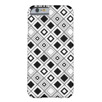 Black and White Modern Squares by Orchard Three Barely There iPhone 6 Case