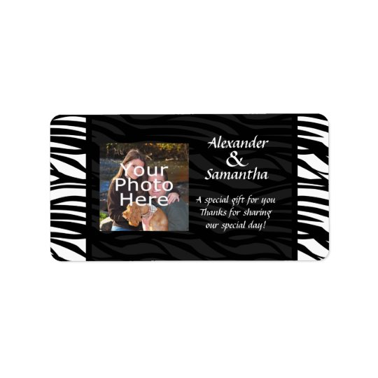 Black and White Modern Wedding Gift or Favour Address Label