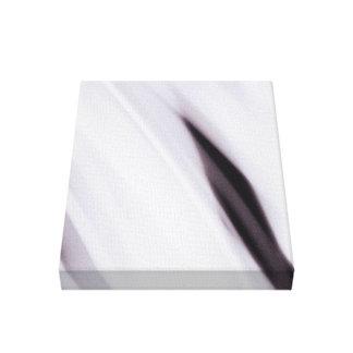 black and white molten liquid canvas print