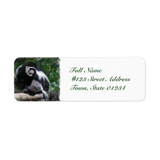 Black and White Monkey Mailing Labels