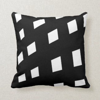 Black and White Monochrome Minimalist Pattern Cushion