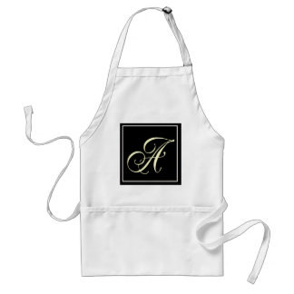 Black and White Monogram Gifts Aprons