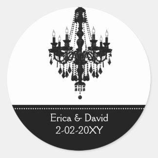 black and white Monogram label Sticker