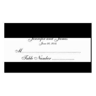 Black and White Monogram Wedding Seating Cards Business Card