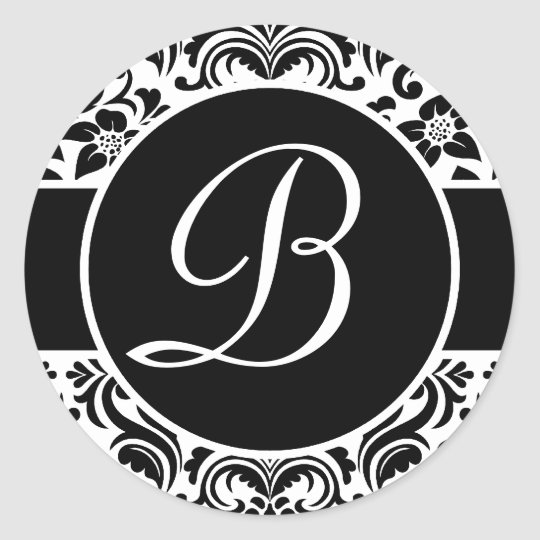 Black and White Monogrammed Personal Seals