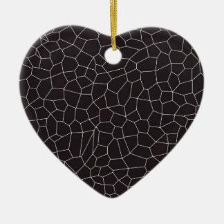 Black and White Mosaic Christmas Ornament