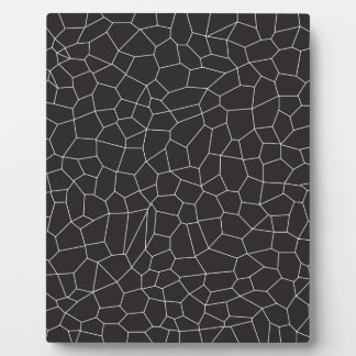 Black and White Mosaic Plaque