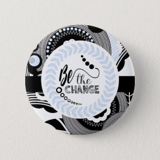 Black and white Motivational Round Button