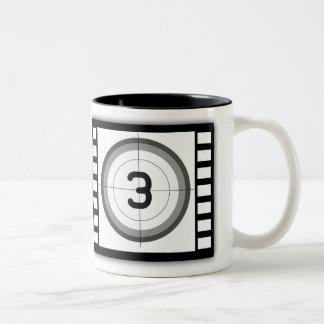 BLACK AND WHITE MOVIE COUNTDOWN Two-Tone COFFEE MUG