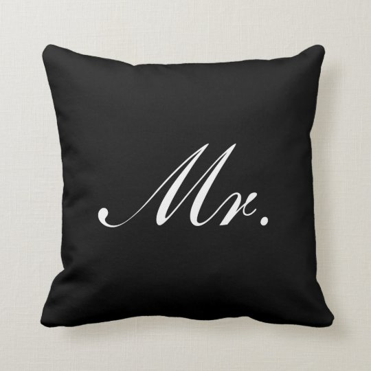 Black and White Mr. and Mrs. Wedding Throw