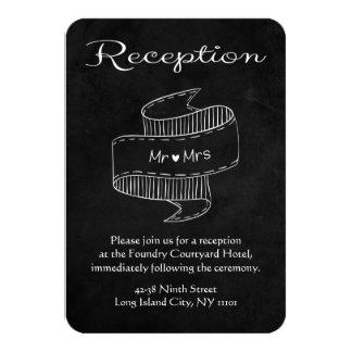 Black And White Mr & Mrs. Chalkboard Reception 9 Cm X 13 Cm Invitation Card