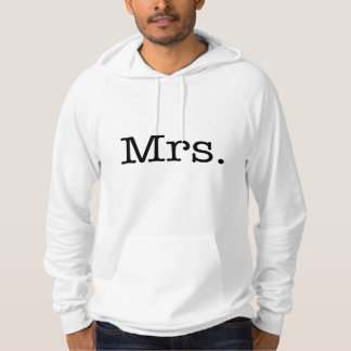 Black and White Mrs. Wedding Anniversary Quote Hoodie