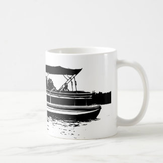 Black and White Mug for Pontoon Boat Owners