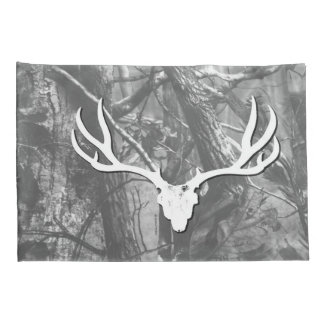 Black and White Mule Deer Pillow Cases