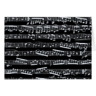 Black and white music notes cards