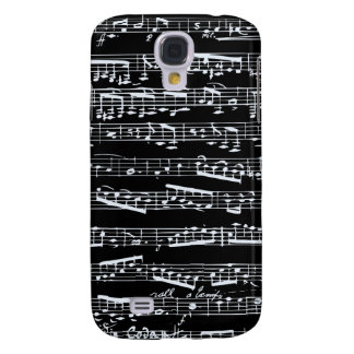 Black and white music notes galaxy s4 case